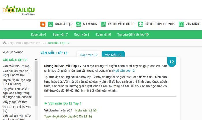 unnamed file 7 Top 10 website những bài văn mẫu hay lớp 12 mới nhất