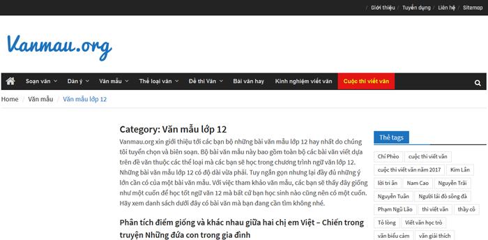 unnamed file Top 10 website những bài văn mẫu hay lớp 12 mới nhất